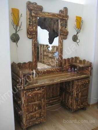 Мебель под старину из массива сосны ( столы, стулья, комоды, шкафы, двери, перегородки, люстры, балки