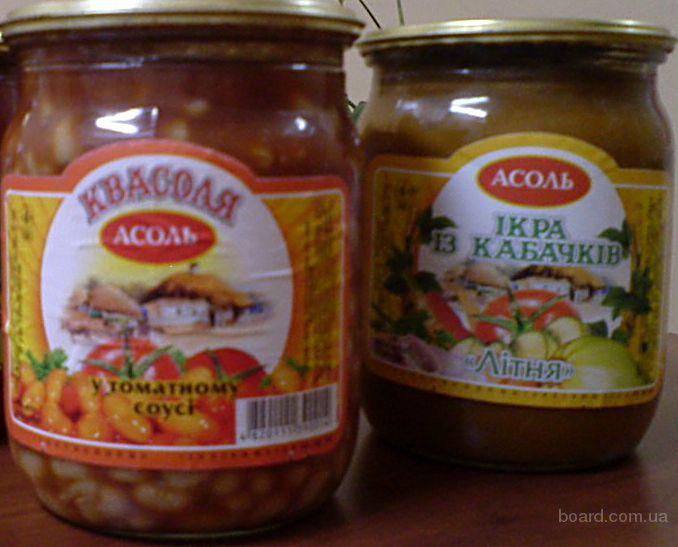 Продам фасоль в томатном соусе 0.5 л с/б