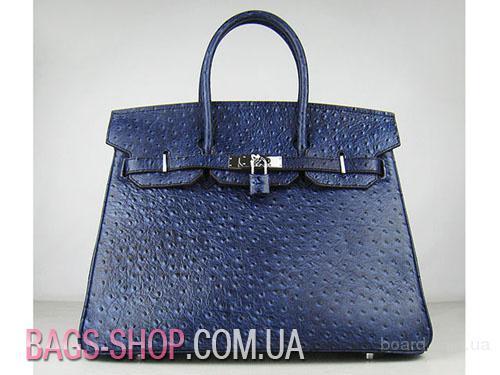 Hermes Birkin 35 Dark Blue Ostrich Handbag.