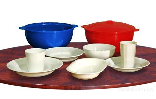 Пластмассовая многоразовая посуда для горячих и хо