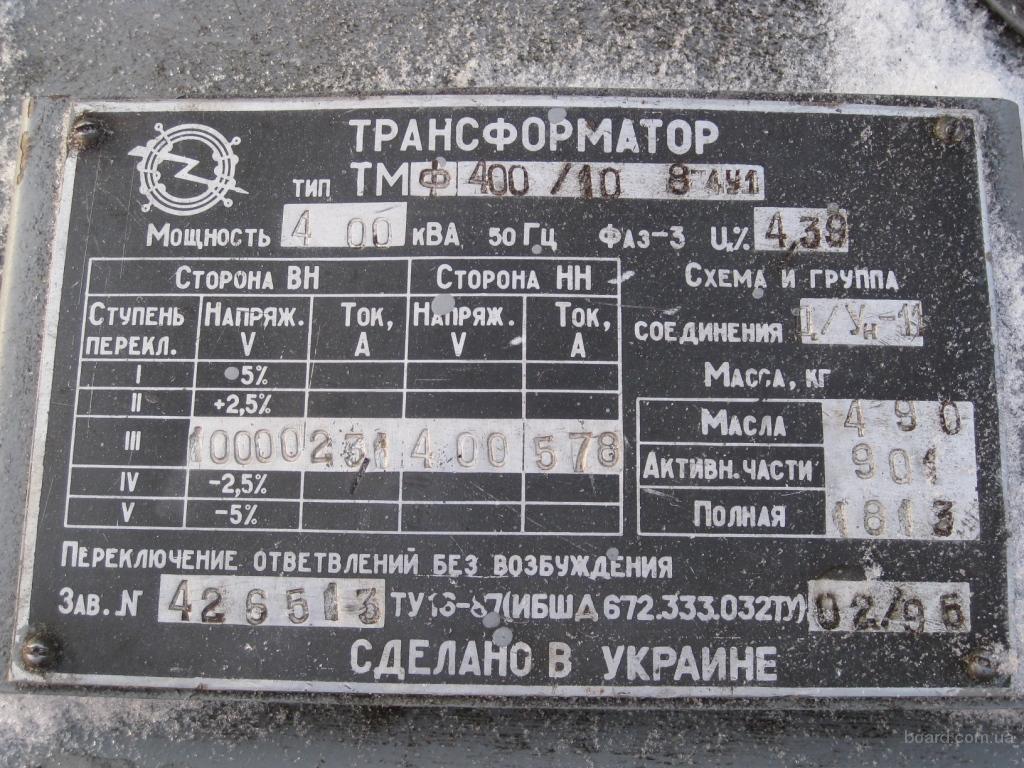 Трансформатор тм 400 10 0,4 показатели надежности