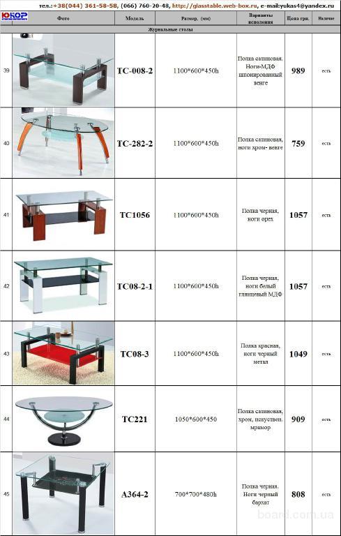 Купить стеклянные журнальне столы ТС-008