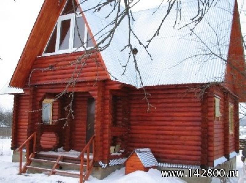 Продам новый дом 6х9 из оцилиндрованного бревна в жилой деревне Бурц.