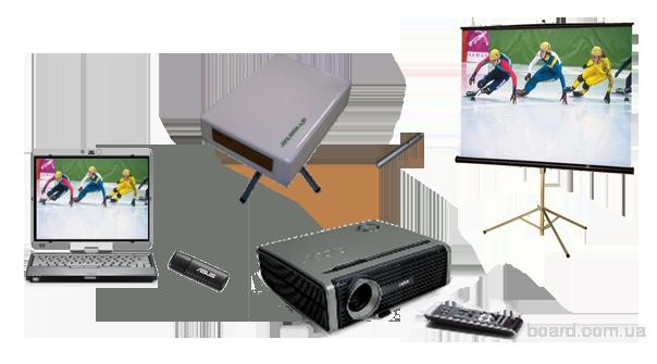 Для работы необходимы: проекционная поверхность (экран, доска, светлая стена), проектор и компьютер управления.