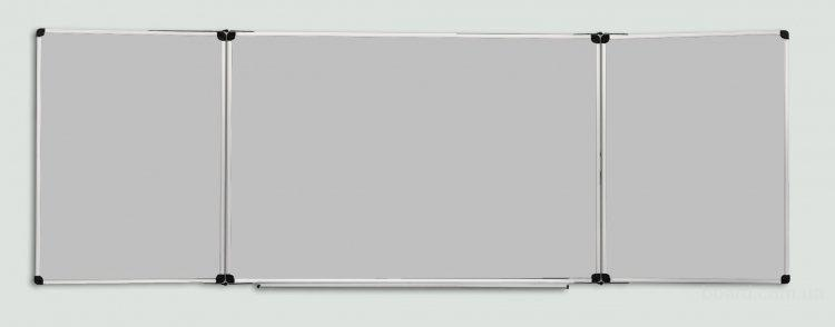 Доска школьная для мела 120х400 см., магнитная с 5 рабочими