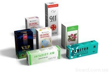 Изготовление картонной упаковки  Киев для лекарств