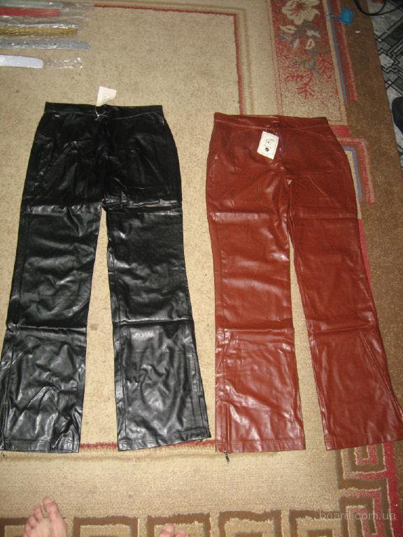 Женские брюки кожзам