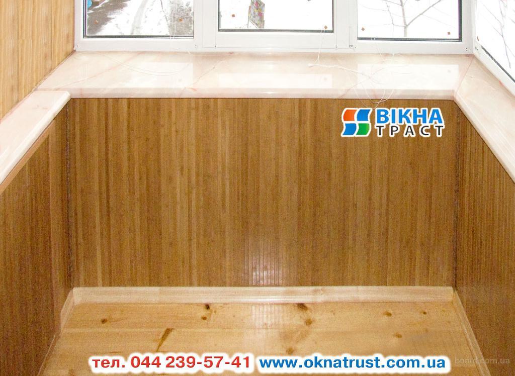 Обшивка балкона бамбуком по цене вагнки продам в киев, украи.
