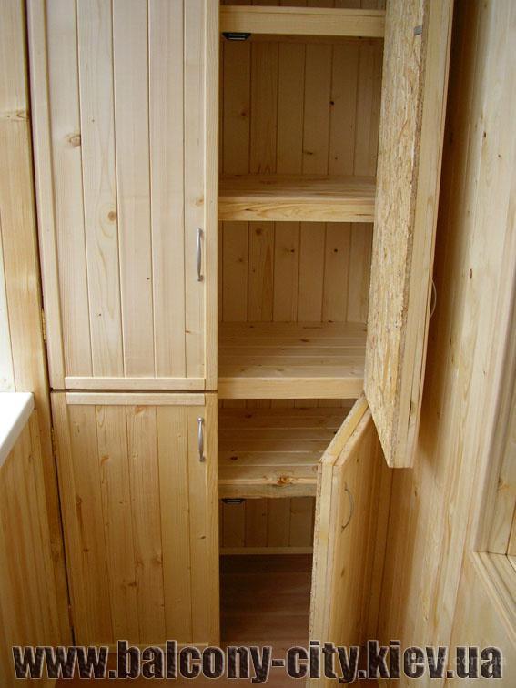 Как сделать на балконе шкафчик своими руками.