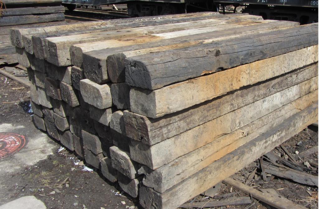 фото шпалы железнодорожные деревянные