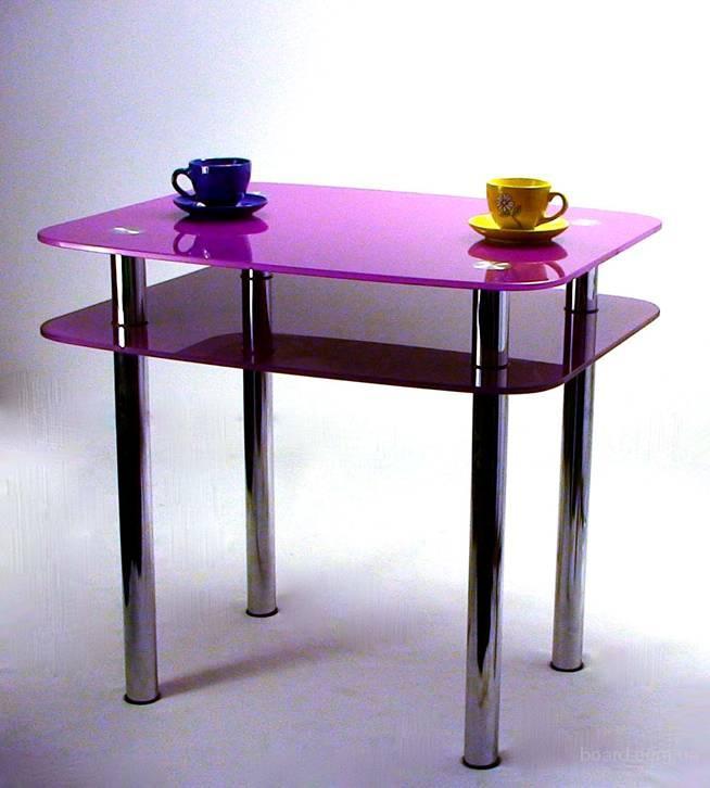Стеклянный стол на кухню купить пермь