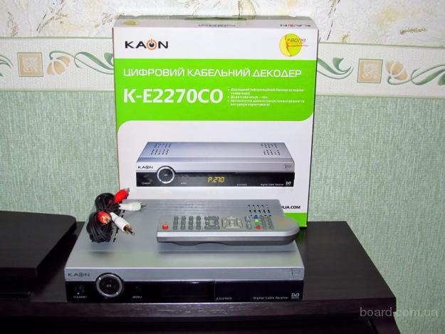 тел 093 286 98 48. продам тюнер для кабельного ТВ подходит к триолан и воля kaon ke 2270 коробка + полный комплект.