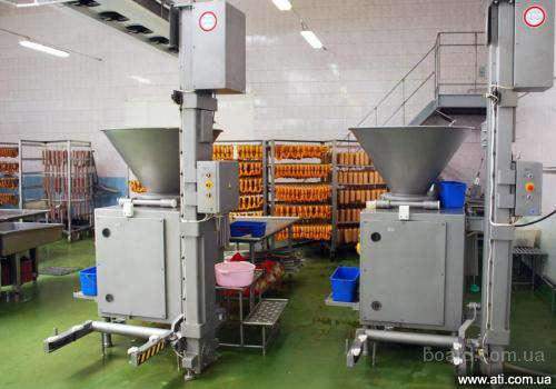 Оборудование для мясокомбинатов, колбасных цехов, убоя птицы, переработке рыбы, производства сыра, пельменей.