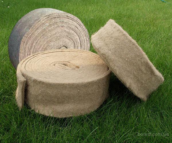 Натуральный теплоизоляционный материал на основе чистого 100 % льна для строительства бревенчатых и...