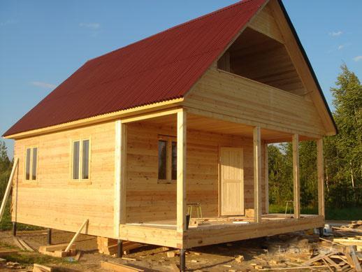Загородное строительство деревянных