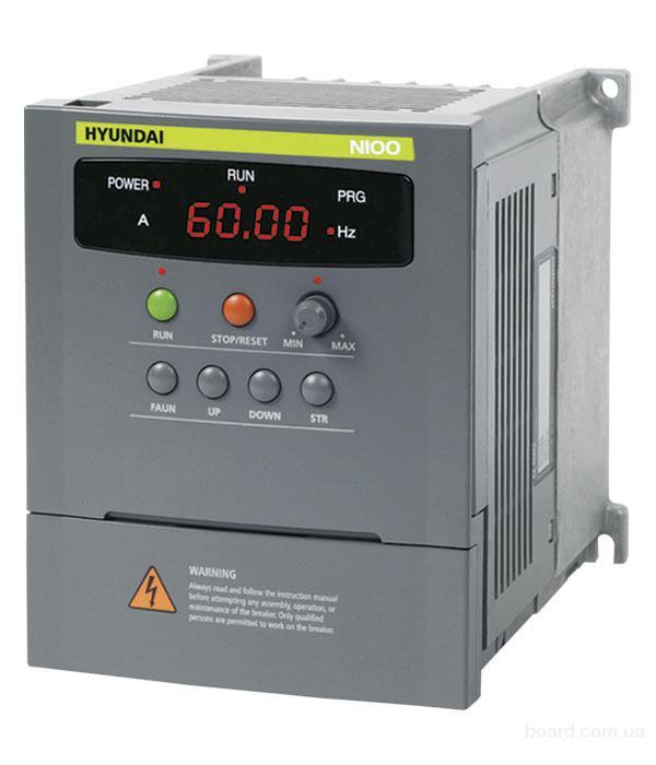 Преобразователь частоты hyundai N100-037HF на 3, 7 кВт (4 кВт) ООО Эстудо предлагает из наличия преобразователи...