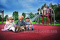 Защитное резиновое покрытие для детских площадок, игровых и спортивных комплексов.  Разнообразие цветовых решений.