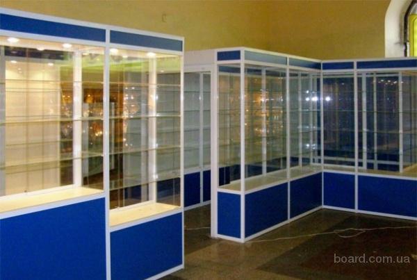 Современные витрины из алюминиевого профиля в
