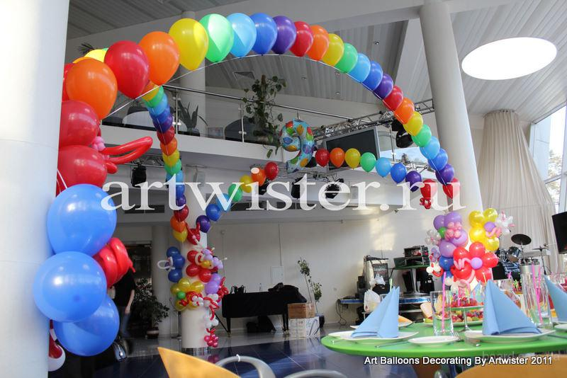 Оформление шарами праздников
