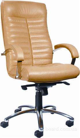 Кресло кожаное Орион хром