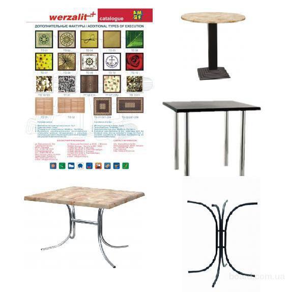 Столы Werzalit для кафе,бара,кухни