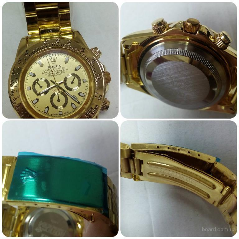 Класс 1. Часы Rolex Daytona Gold (кварц). Отличный подарок. Замечательный аксессуар.