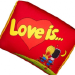 """Сувенирные подушки """"Love is ..."""" в виде жевательной резинки"""