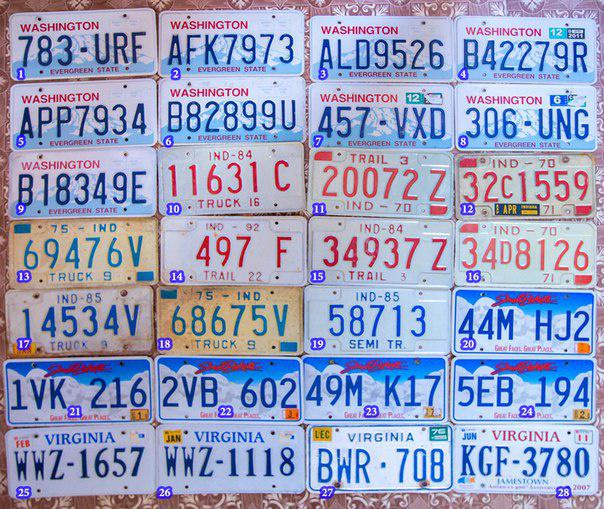 Авто номера США (Америка, USA). КРУПНЕЙШИЙ выбор