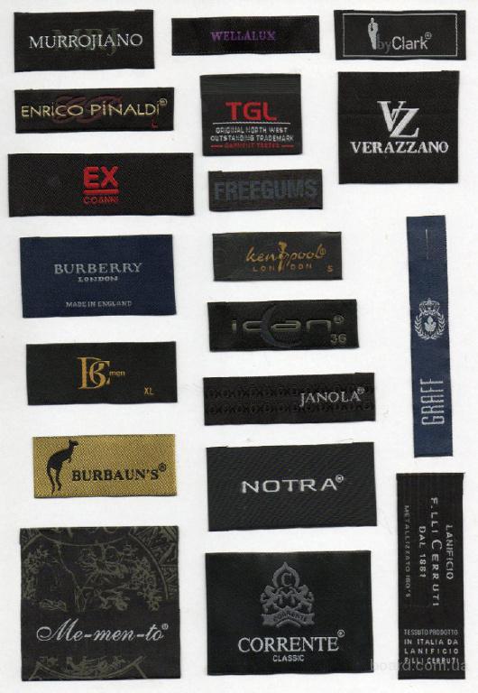 Фирменные лейблы известных марок одежды фото