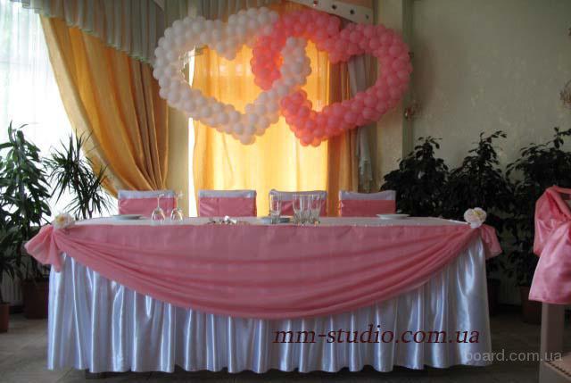 Оформление банкетного зала тканями, цветами, шарами. - Доска объявлений